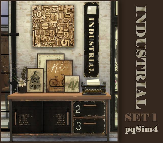 Detalle del Set Industrial. Sims 4 Custom Conten.