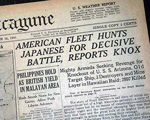 The Louisiana Times-Picayune, 16 December 1941 worldwartwo.filminspector.com