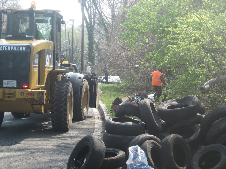Since 2011, we have removed an estimate 1,000 tires from Shepherd Parkway.