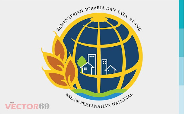 Logo Kementerian Agraria dan Tata Ruang (ATR-BPN) Badan Pertanahan Nasional Indonesia - Download Vector File SVG (Scalable Vector Graphics)