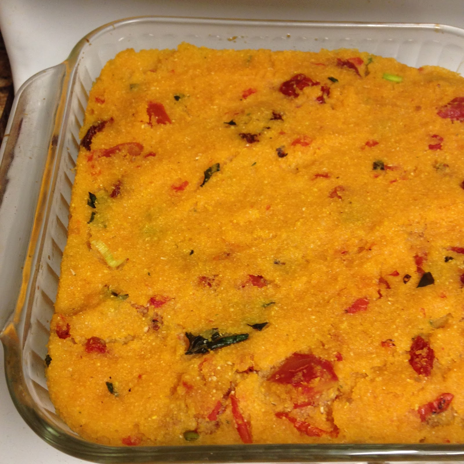Vegans Have Superpowers: Tomato & Basil Baked Polenta