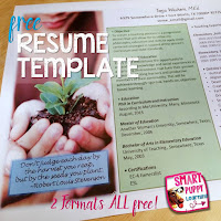 https://www.teacherspayteachers.com/Product/Editable-Resume-Template-Grow-2570966