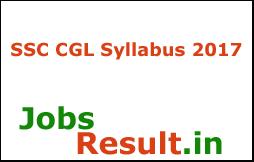 SSC CGL Syllabus 2017
