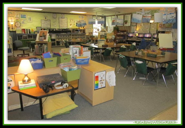Kindergarten Classroom Set-up Overview  (Classroom Decor RoundUP at RainbowsWithinReach)