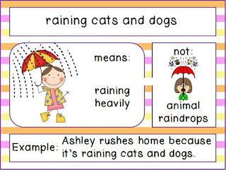 Raining cats and dogs idiom pictures