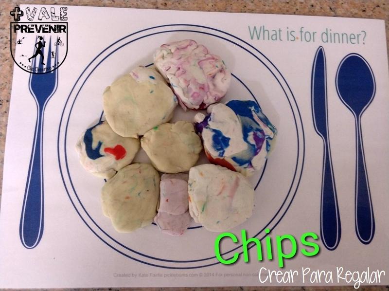 chips con plastilina