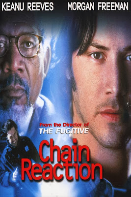 Poster Of Chain Reaction (1996) In Hindi English Dual Audio 300MB Compressed Small Size Pc Movie Free Download Only At worldfree4u.com