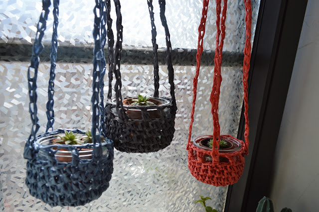 suspension succulentes crochet