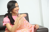 Actress Ritu Varma Pos in Beautiful Pink Anarkali Dress at at Keshava Movie Interview .COM 0328.JPG