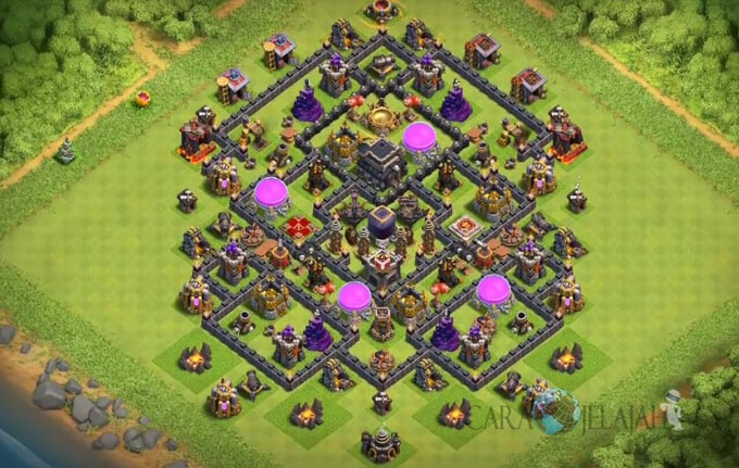 Base Farming TH 9 COC Update Bomb Tower Terbaru 2017 Tipe 9