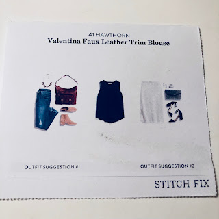 November 2017 Stitch Fix Review. 41 Hawthorn Valentina Faux Leather Trim Blouse | brazenandbrunette.com