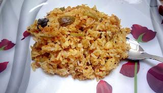 Mustard flavoured Ivy gourd Rice