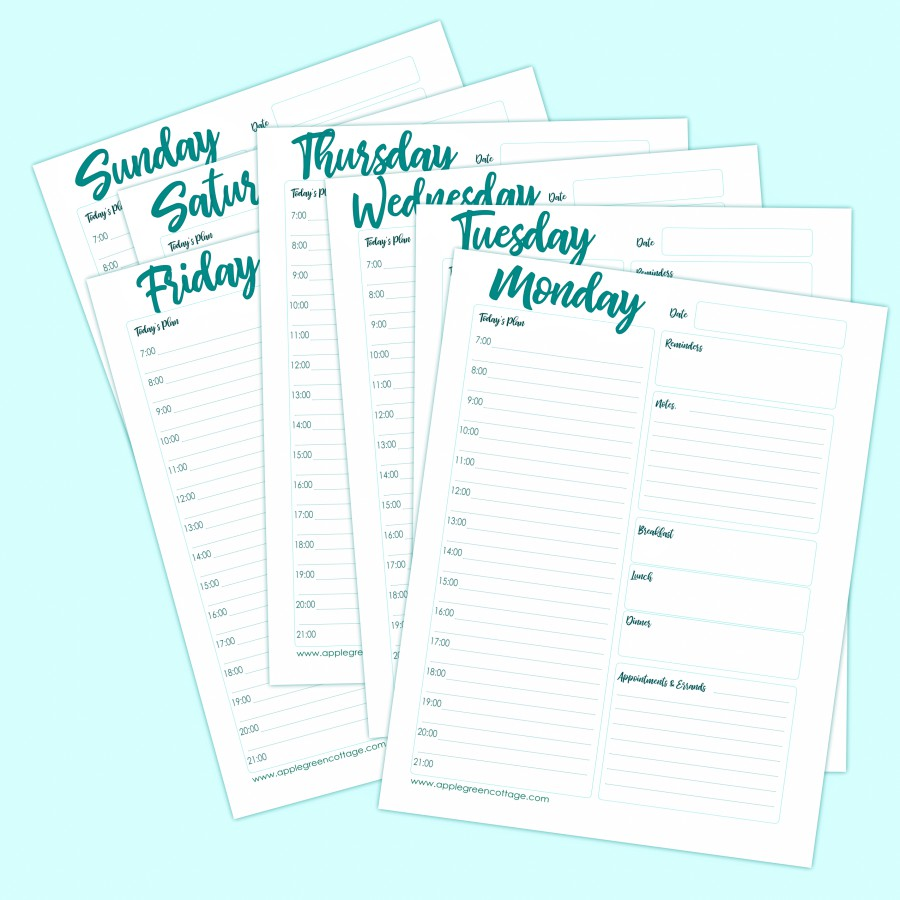 Free Daily Planner Printable To Keep You Organized ...