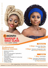 BEAUTY BY MMA ONE MONTH MAKE-UP AND GELE CLASS, READ MORE