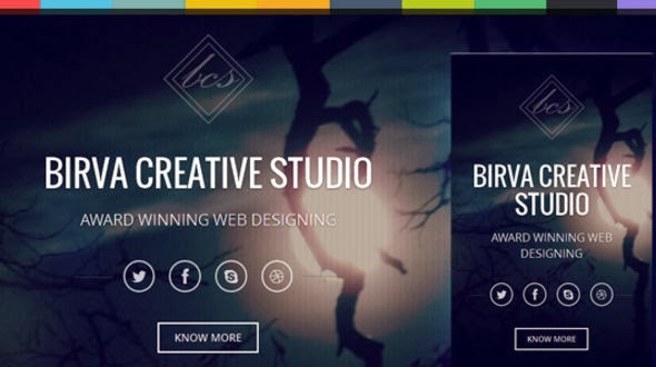 Birva \u2013 Bootstrap Parallax One Page HTML Template - Themes Arena