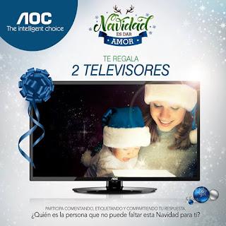 Participa y gana un Televisor AOC - #NavidadEsDarAmor