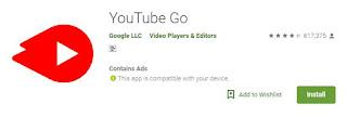 Tampilan Youtube Go