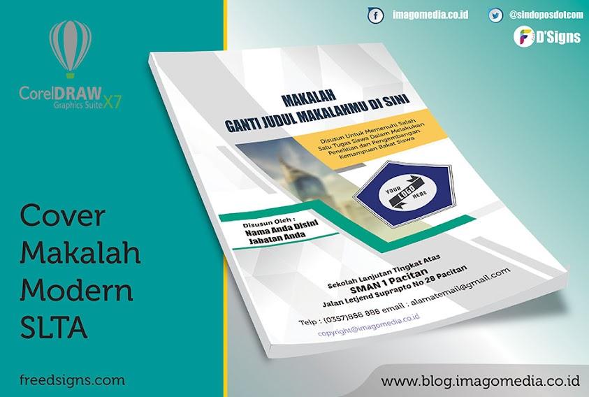 Contoh Cover Makalah Modern Tingkat Sekolah