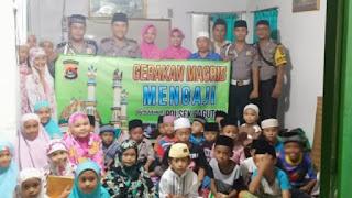 Polsek Pagutan : Program Gerakan Magrib Mengaji Sebagai Wadah Silaturahmi dengan Masyarakat