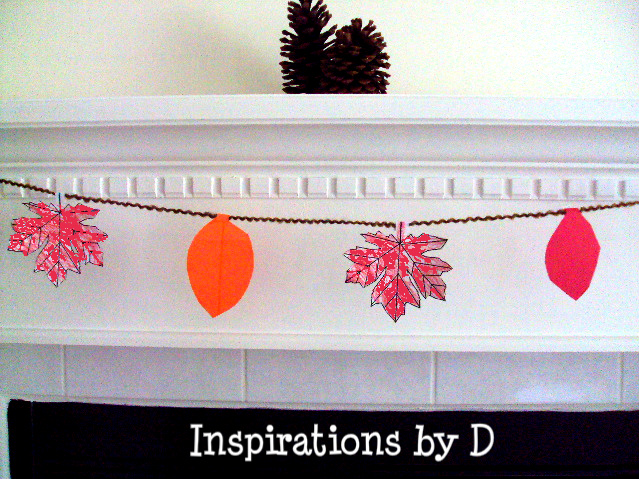 Kids How to Make a Paper Leaf Garland