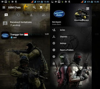 Free Download BBM MOD COUNTER STRIKE V2.12.0.11 apk terbaru 2016 || MalingFile