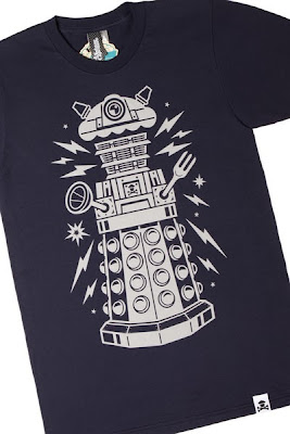 "Johnny Cupcakes x Doctor Who ""Cake-Bot"" Dalek Navy T-Shirt"