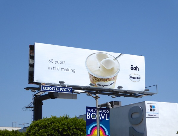 56 years in making Haagen Dazs ice-cream aah billboard