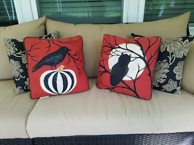 owl pillow, raven pillow