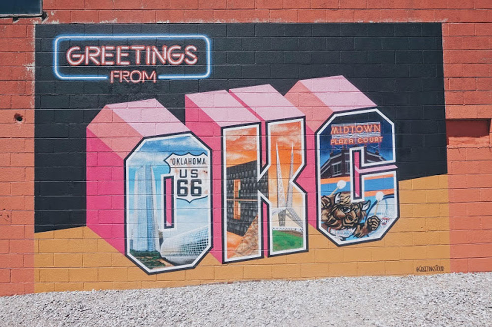 greetings from okc mural