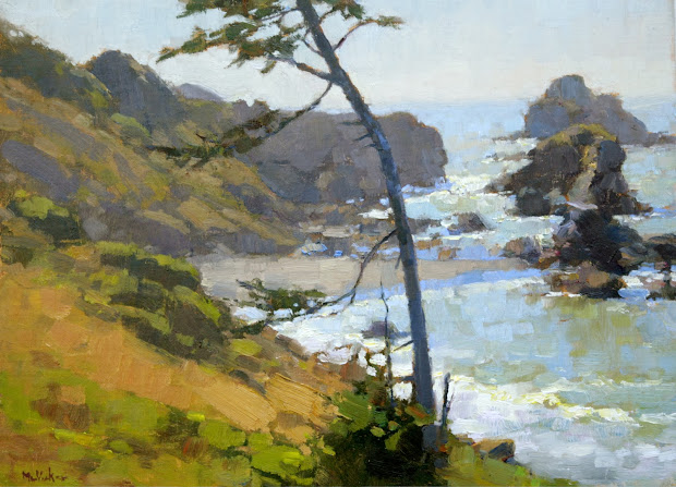 Lost Coast Daily Painters 'luffenholtz Cypress' Jim Mcvicker