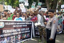 Lakukan Demo Solidaritas Mahasiswa Papua di Sulut Serukan Kemerdekaan Papua