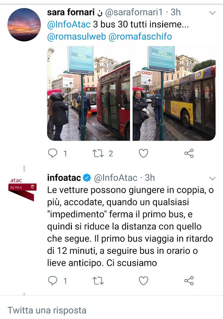 Situazione Trasporto Pubblico Roma venerdì 5 aprile
