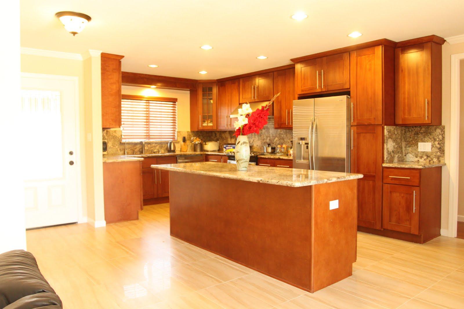 hong bo hardware supply cherry shaker kitchen cabinets juperano bruzio granite counter top. Black Bedroom Furniture Sets. Home Design Ideas