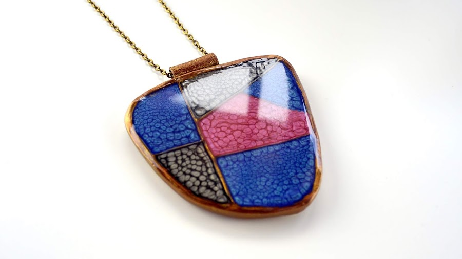 faux cloisonne polymer clay
