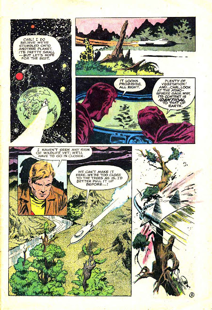 Blast Off v1 #1 harvey science fiction 1960s silver age comic book page art by Al Williamson