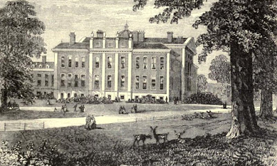 Kensington Palace from Kensington Gardens  from Old and New London by E Walford (1878)