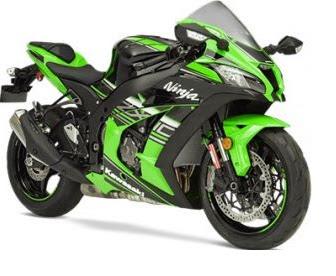 sport bike by Kawasaki Ninja
