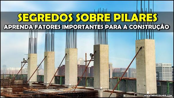 pilares de construção civil