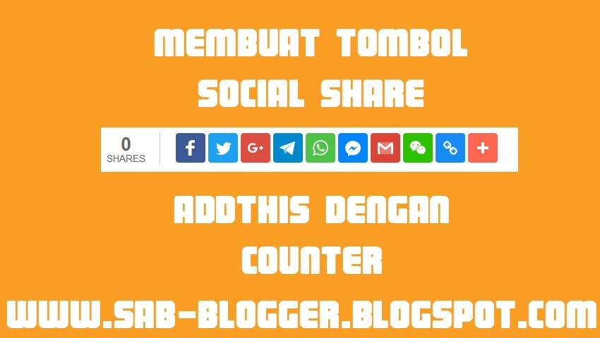 Membuat Tombol Social Share Addthis Dengan Counter Valid AMP
