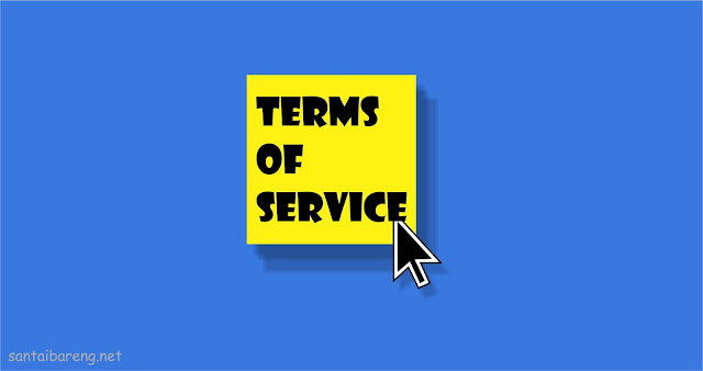 Membuat Terms of Service (TOS) di Blog