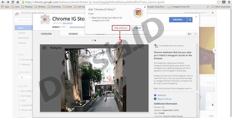 cara Menambah ekstensi di Chrome