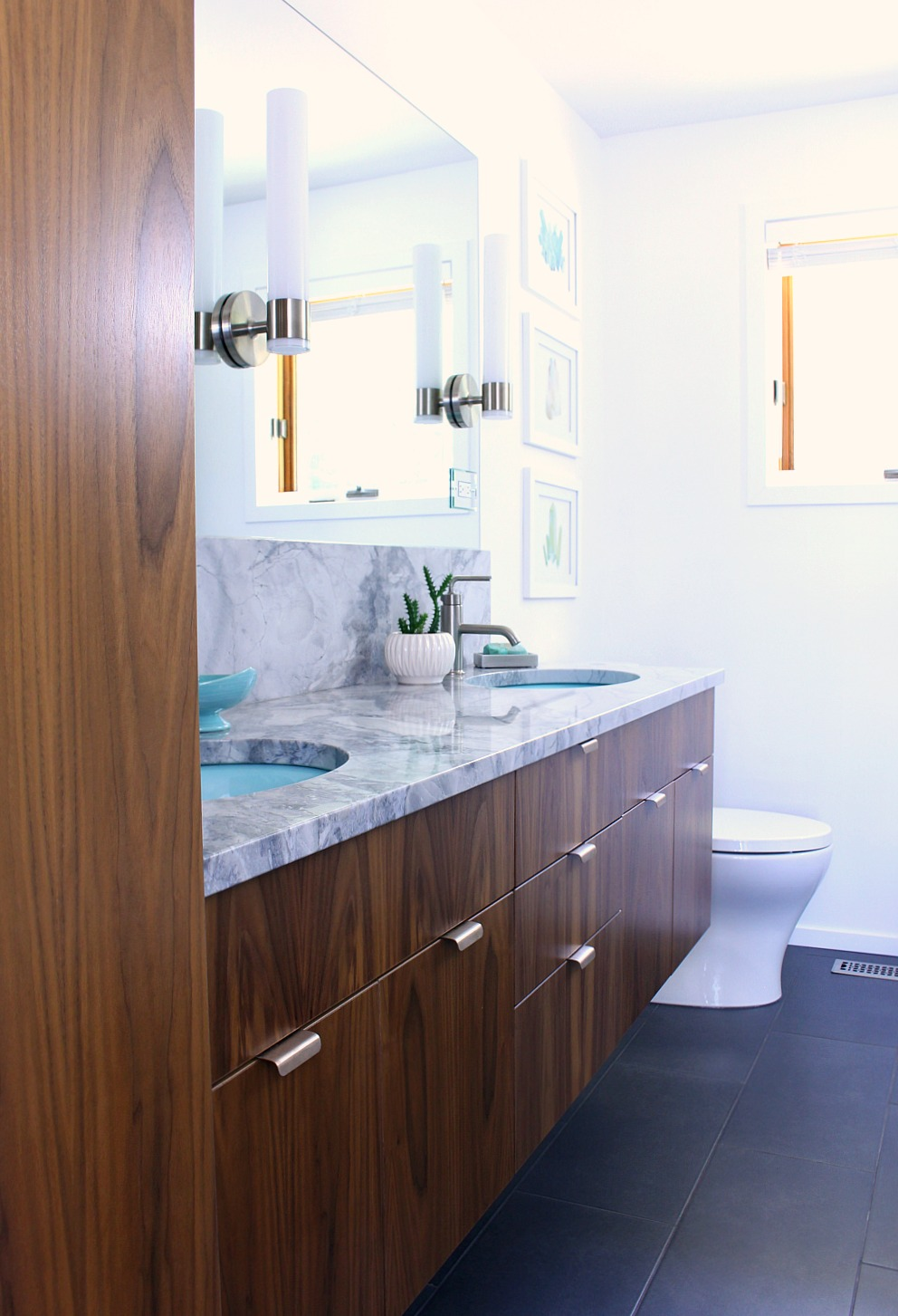 A mid century modern inspired bathroom renovation before for Modern bathroom renovations