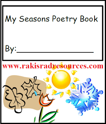 Free seasons poetry writing journal from Raki's Rad Resources.