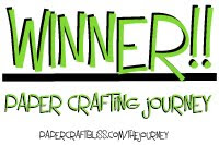Winner Paper Crafting Journey April 2012