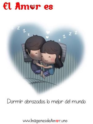 Imágenes románticas tiernas de dormir abrazados