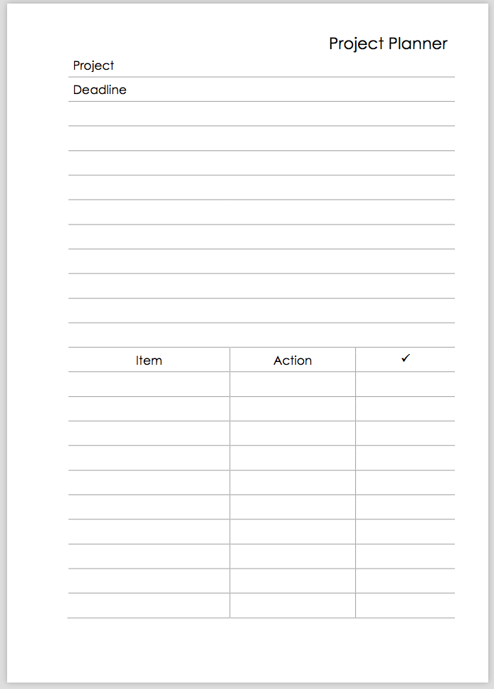 philofaxy project planner template for a4 a5 and a6 users