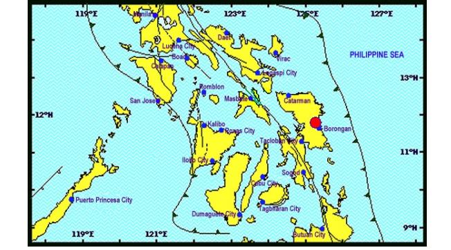 Magnitude 6.2 earthquake hits Samar
