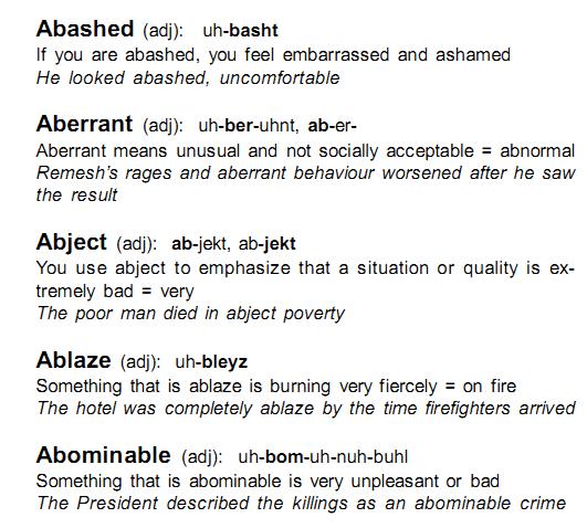 Good vocab words for essays