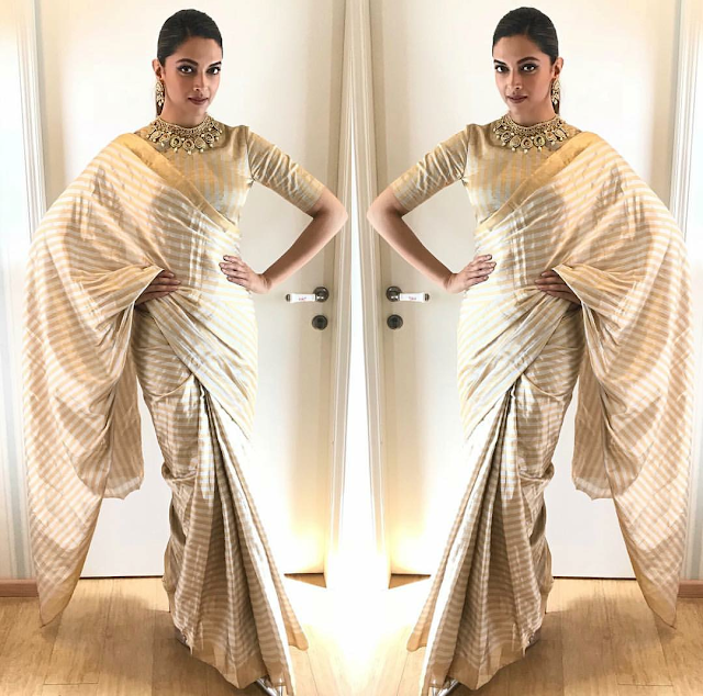 Deepika Padukone in Raw Mango for Padmavati Promotions