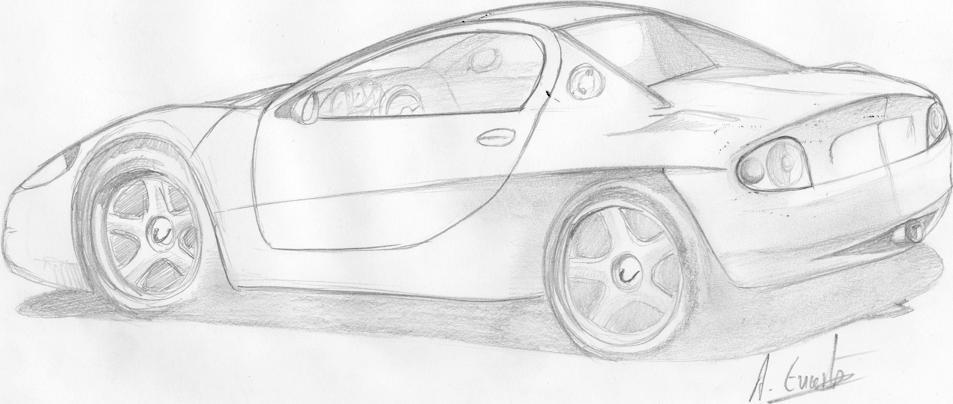 Yarış Arabaları Karakalem çizimleri Karakalem çizimleri